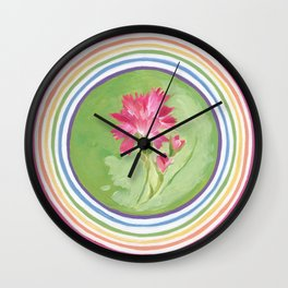 Carnation Blessing Wall Clock