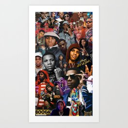 A Boogie Wit Da Hoodie Collage Art Print