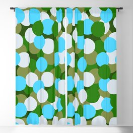 Abstraction_DOTS_GREEN_BLUE_COLOR_03 Blackout Curtain