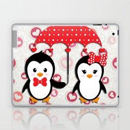 Penguins under the umbrella Laptop & iPad Skin