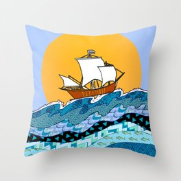 Sailing the High Seas Throw Pillow
