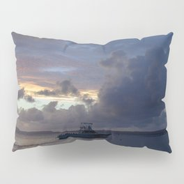 Watercolor People in Nature, NSS, Boat 14, Bonaire, Dutch West Indies Pillow Sham