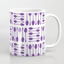Purple Spoons Pattern Coffee Mug