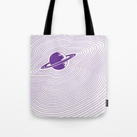 saturn Tote Bags featuring Saturn by Danielle Podeszek