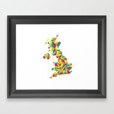 Abstract United Kingdom Bright Earth Framed Art Print