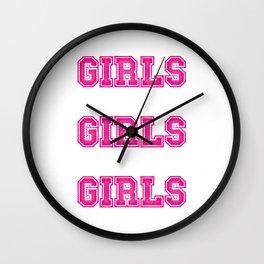 Girls Girls Girls #society6 #decor #buyart #artprint Wall Clock