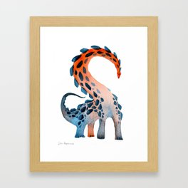 Studded Sauropod Framed Art Print