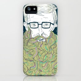 Hipster Beards iPhone Case