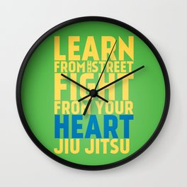 Learn from the Street Jiu Jitsu Wall Clock