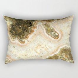 Pink Agate Rectangular Pillow