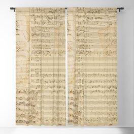 Classical music notations Blackout Curtain