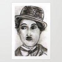 charlie Art Prints featuring Charlie by sladja