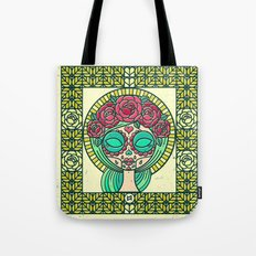 Sugar Skull Girl Tote Bag