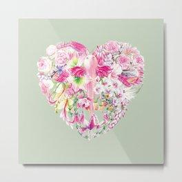 Blush Heart Metal Print