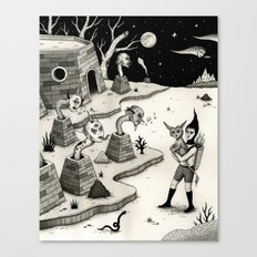 Encounter with the Chimney Dwellers Canvas Print