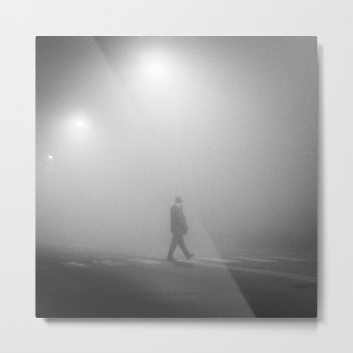 MAN IN THE MIST Metal Print