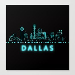 Digital Cityscape: Dallas, Texas Canvas Print