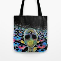 third eye Tote Bags featuring third eye by Blu*