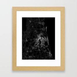 Jacksonville map Framed Art Print