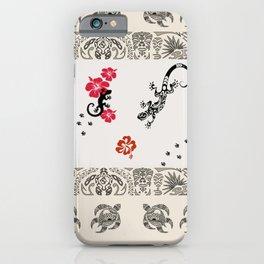 Traditional Hawaiian Icons Print iPhone Case