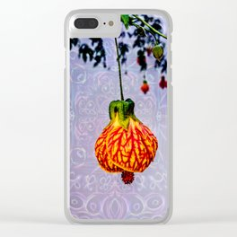 Stained glass and flower pendant Clear iPhone Case