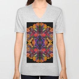 Rainbow Flowers Unisex V-Neck