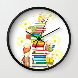 reading book time Wall Clock