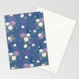 Peacocks Roses and Agapanthus Stationery Cards
