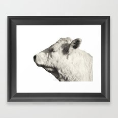 Bovine Profile Framed Art Print