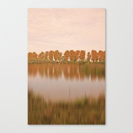 The other side in autumn light Canvas Print