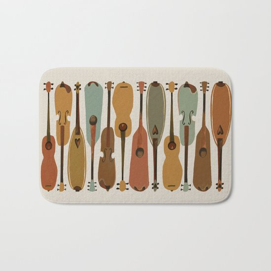 Vintage Instrument Collection  Bath Mat