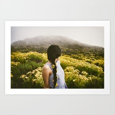 Lucy at Point Dume Art Print