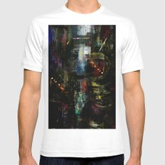 Astronaut in the city White Mens Fitted Tee MEDIUM