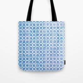 Blue Portuguese Tile Pattern Tote Bag