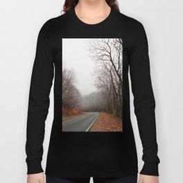 Foggy Fall Road Long Sleeve T-shirt