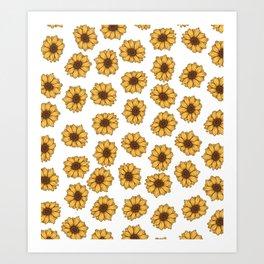 lil' anxious sunflowers Art Print