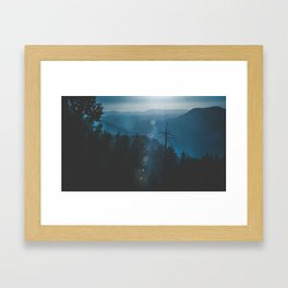 Yosemite, Blue Framed Art Print