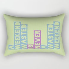 A Weekend Wasted (Colour) Rectangular Pillow