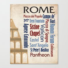Travel - Rome Canvas Print
