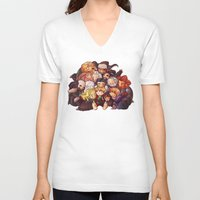 the hobbit V-neck T-shirts featuring Hug the hobbit by quelm