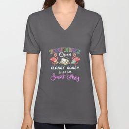 Scrapbooker Queen Scrapbooking Classy Sassy Flamingo Unisex V-Neck