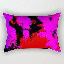 Ichisaio - Abstract Pink Red Batik Camouflage Tie-Dye Style Pattern Rectangular Pillow