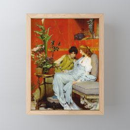Confidences 1869 by Sir Lawrence Alma Tadema | Reproduction Framed Mini Art Print