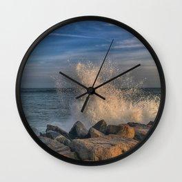 Sunset spray Wall Clock