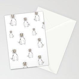 white dog Stationery Cards