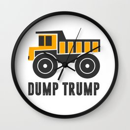 Dump Trump 1 Wall Clock