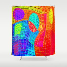 Re-Created Function f(x) No. 5 by Robert S. Lee Shower Curtain