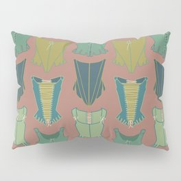 18th Century Corset Stays Illustrated Pattern Print Pillow Sham