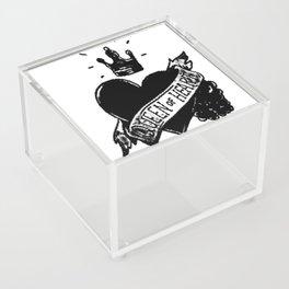 Queen of hearts, Custom gift design Acrylic Box