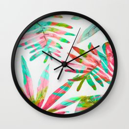 paradise palm Wall Clock